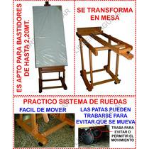 Atril De Madera Bastidores Grandes 2,2 Metros Mesa Acuarelas