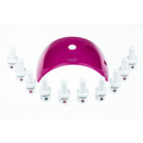 Kit Lampara Led 36w + 8 Gelish + Base Y Top