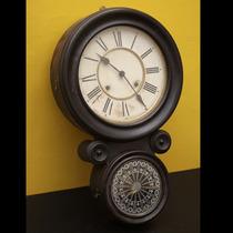 Antiguo Reloj De Pared Ansonia
