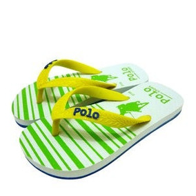 38ae1f9aa8 Polo Shoes Chinelo Amarelo   Verde Limão 31-32 Infantil Top