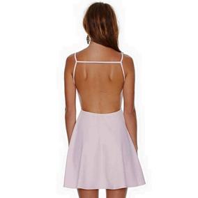 Vestido Espalda Descubierta, Fiesta, Civil, Día, Noche