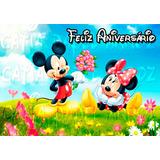 Mickey E Minnie Papel Arroz A4 E Tinta Importada