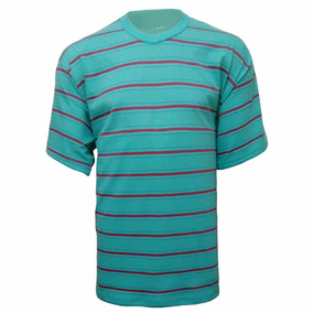 Camiseta 100% Algodão Listrada L 17