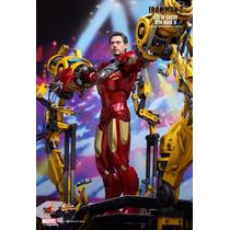 Hot Toys Iron Man 2 Mkiv Suit Up Gantry - Homem De Ferro 1/6