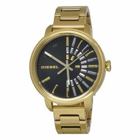 Relógio Diesel Feminino Original Análogo Dourado - Nf E Gar