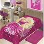 Manta Infantil De Microfibra Barbie Star Super Macia Jolitex