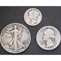 1943 1935 Monedas D Plata Antigua Coleccion Ley .9 Lote H231