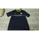 Camisa Santos Third Nike Authentic De Jogo Azul Marinho M G