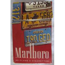 Antiga Carteira Maço Cig. Marlboro Placas Usa - A6
