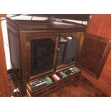 Mueble Tv, Equipo De Musica, Antiguo,buena Madera Con Ruedas