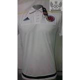 Camiseta Seleccion Colombia Oficial 2015 Presentacion Blanca
