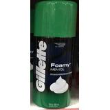 Gillette Foamy Mentol Espuma De Afeitar X 322ml
