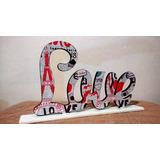 Letrero Love Estampado Letras Decoradas Lamparas Navidad