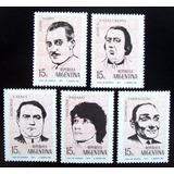 Argentina, Serie Gj 1557-61 Actores Argentinos 71 Mint L4980