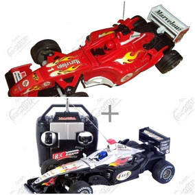 Kit 2 Carrinhos Controle Remoto Formula1 Deluxecar Barato!
