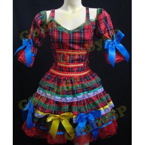 Vestido Quadrilha Infantil Festa Junina Para Criança Junino