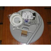 Antena Mini Parabólica 60cm + Lnbf + Cabo Coaxial Rg6 Ku