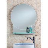 Espejo Redondo Con Repisa 60 Cm X 80 Cm