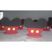 Enfeite Centro De Mesa Mickey Em Eva 12 Unidades