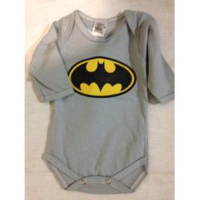 Body Bebe Batman Manga Longa - Roupas de Bebê Cinza escuro no ... 2f0dd074e4b
