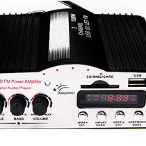 Potente Amplificador De 1200w Para Casa Moto Auto Usb Xaris.