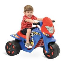 Moto Elétrica Infantil Cross El 6v Azul Vermelho Bandeirante