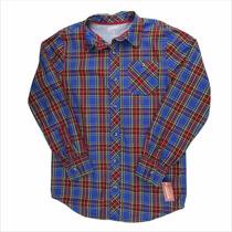 Padrísima Camisa Azul A Cuadros Para Niño Arizona Talla 18