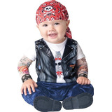 Disfraz De Motociclista Para Bebé Niño Talla 0 - 6 Meses