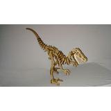 Dinossauro Velocirapto 3d Em Mdf P/ Quebra Cabeça Maquete 04
