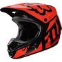 Casco Fox V1 Race Naranja 2017 Motocross Atv Moto Talla Xl