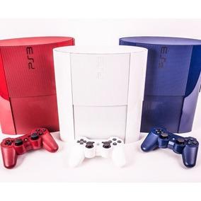 Sony Ps3 500gb C/ 70 Jogos Originais Azul Vermelho Ou Branco