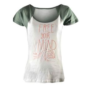 Remera Reef Free Minder Mujer Blanco