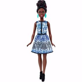 Barbie Fashionistas - Negra - 25 Blue Brocade - Lacrada