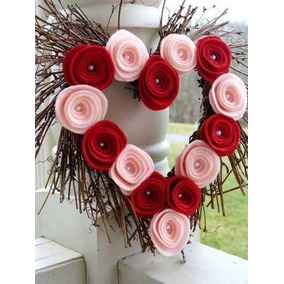Corona Para Puerta 14 De Febrero. San Valentín