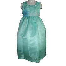 Nuevo Vestido Largo Organza Fiesta Pajecita Princesa 6 Años