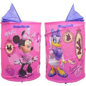 Cesto Organizador Porta Brinquedos Menina Minnie Rosa Disney