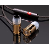 Fone De Ouvido Earphone Munitio Nines 9mm Gold 24k Botão Mic