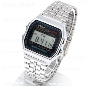 ad49bf63dc0 Relogio Casio A159 Prata Unisex Retrô Vintage A178 A168 - Relógios ...