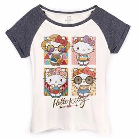 Camiseta Raglan Feminina Hello Kitty Festival Looks - Bandup