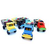 12 Cavalos E 2 Caminhão Com Grade = Brinquedo Plástico