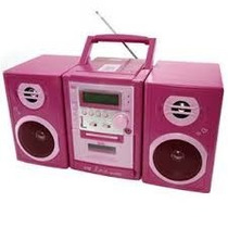 Micro System Portátil Lenoxx Brb-033 7w Cd Player Barbie