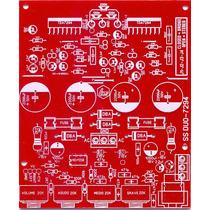 Placa Para Montagem Amplificador Estereo Tda7294 + Pre