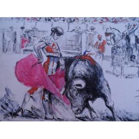 Pintura Taurina Jose Tomas Por El Pintor Lopez Canito
