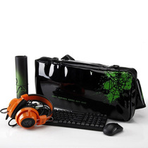 Set Gamerr Teclado Led Mouse Mousepad Mochila Y Audifonos