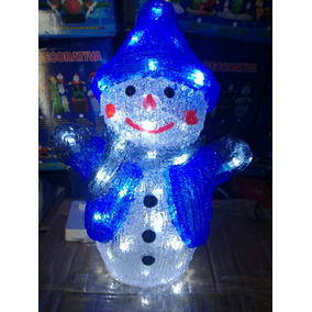 Muñeco Nieve Con Luces Led Figura Navidad