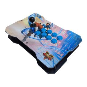 Controle Arcade Full Sanwa Generico Ps4 Ps3 Raspberry Pc