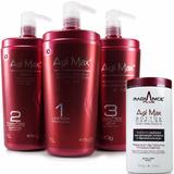 Kit Agi Max Red Kera-x 1000ml + Botox Agimax Radiance 900gr