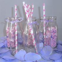 10 Botellitas C/tapa 250 Cc Vidrio Jugo Candy Bar Souvenirs