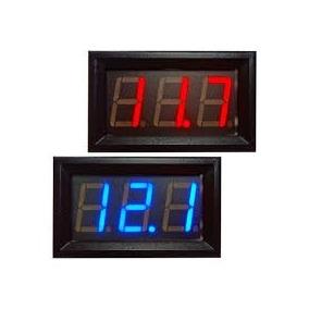 Kit De 10 Voltímetros Led Importado De 3 A 30v Display Azul