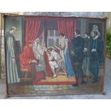 Mural Antiguo Sobre Tela Firmado Al Oleo